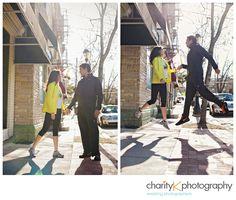 Charity K Photography engagement session Bob Rocker runners love levitate in Cincinnati