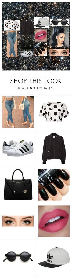 Black & White by just-lynn-fashions on Polyvore featuring Être Cécile, MANGO, adidas Originals, MICHAEL Michael Kors, adidas, women's clothing, women's fashion, women, female and woman