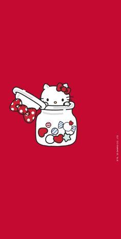 Sanrio Wallpaper, Hello Kitty Wallpaper, Kawaii Wallpaper, Iphone Wallpaper, Hollow Kitty, Hello Kitty Images, Cute Twins, Hello Kitty Collection, Hello Hello