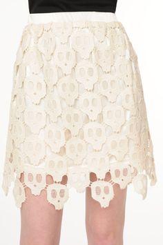 Crochet Skull Skirt
