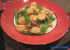 Carole's Chatter: Stir fry of peppered prawns with snow peas