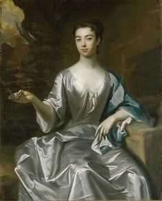 """""""Portrait of a Woman, Called Maria Taylor Byrd"""" by an artist in the School of Godfrey Kneller (1700-1725) at the Metropolitan Museum of Art, New York"""