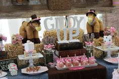 Dessert table at a Cowgirl Party #cowgirl #party