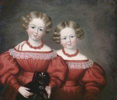 Céline and Rosalvina Pelletier by James Bowman, c. 1838.