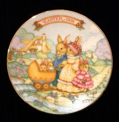 Vintage AVON EASTER 1991 Collectible Decorative Plate by DuDejaVu