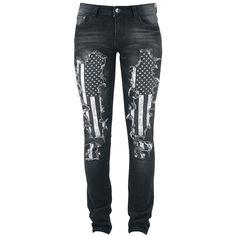 Megan Flag Pants - Pantalones Mujer por Rock Rebel by EMP - Número Artículo: 280874 - desde 59,99 € - EMP tienda online de Camisetas, Mercha...