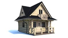 MAŁY DOM Z BALI Ten model domu charakteryzuje się niewielkimi wymiarami dzięki czemu jest łatwy do umieszczenia nawet na małej działce. Wykonujemy dow...