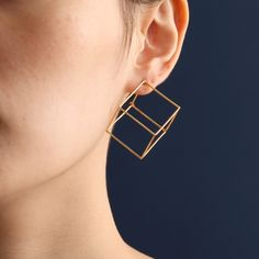 Geometric Cube Earrings - Gotta admit, I kinda like them.