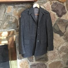 Military style coat Perfect condition wool coat bought at army navy surplus store Urban Outfitters Jackets & Coats Pea Coats