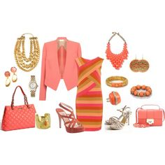 Coral !!, created by fashiongirl-26 on Polyvore