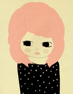 I want pink hair like this one day!