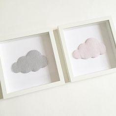 Kundenwunsch: Stoffbild im Rahmen Wolke . Ich hab mich so in die Wölkchen verliebt dass ich sie euch nicht vorenthalten wollte...