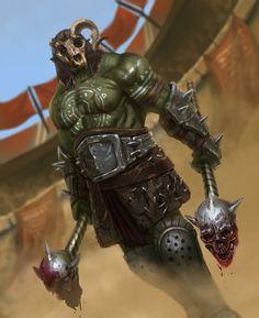 Splitskull Gladiator (HEX), Mark Tarrisse on ArtStation at https://www.artstation.com/artwork/bJ9Bg