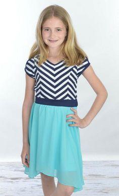 Bridget Chevron Two Tone Dress – Moon Child Boutique