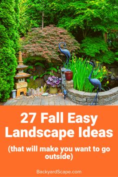 Want to spruce up your backyard for fall? Here are great fall landscape ideas for the fall feel in your favorite outdoor space. Backyard Projects, Fun Projects, Fall Landscape, Backyard Landscaping, Landscaping Ideas, Go Outside, Water Features, Outdoor Lighting, Pergola