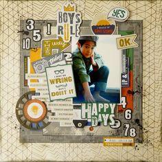 HAPPY DAYS - Pinkfresh Studio - Boys Fort Collection