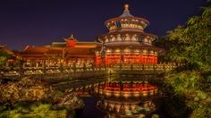 Marvel at the beauty of the Temple of Heaven that dominates the China Pavilion at Epcot.