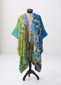 Modal Scarf - Orchid repeat green scarf by VIDA VIDA 8KOu5Mn