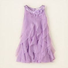 girl - dresses & rompers - rosette cascade dress | Children's Clothing | Kids Clothes | The Children's Place