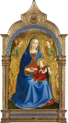 Madonna de la granada - Fran Angelico - Museo del Prado