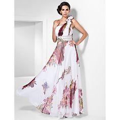 vaina / columna de un hombro vestido de noche de gasa palabra de longitud / prom – EUR € 85.09
