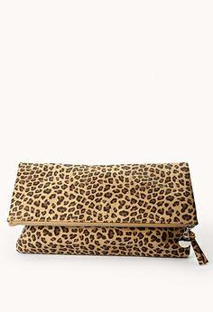 Leopard Clutch - It's bigger than it looks, but I still love it!