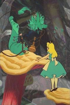 Alice in wonderland... caterpillar.. hookah.. marijuana.. mushrooms.. disney