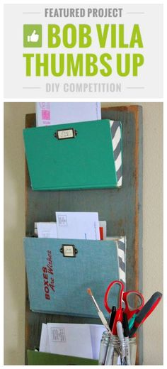 Mail Organizer, http://bec4-beyondthepicketfence.blogspot.com/2014/01/old-book-mail-organizer.html