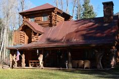 Log home Aspen vacation cabin, love the lookout tower!