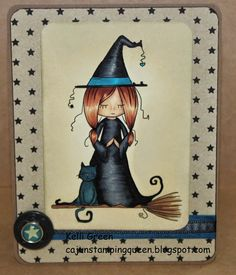 Day 4 of 31 Whimsical Halloween, Finding Inner Peace, 31 Days Of Halloween, Zen, Witch, Stamps, Shop, Cards, Seals
