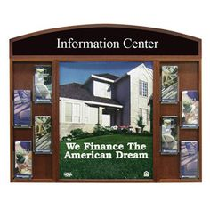 """Wood Wall Frame with Brochure Holder - 22""""x28"""""""