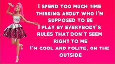 Barbie Song, Big Doors, Pink Wallpaper, The Outsiders, Lyrics, Ballet Skirt, Songs, Fashion, Moda
