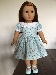 Vintage Style School Dress fits American Girl Dolls LAST ONE by Bekysdollclothes on Etsy