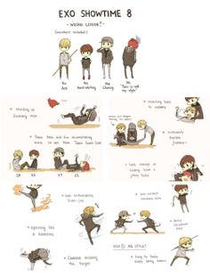 Exo showtime ep 8 fan art ♥