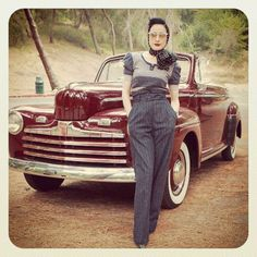 Dita Von Teese 1946 Ford Deluxe Convertible coupe