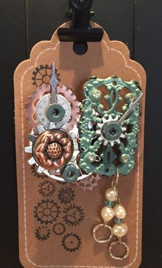 This One of a kind Steampunk brooch is made by RockinRobinsBling