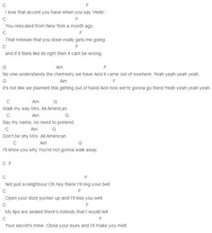 5 Seconds Of Summer, 5 Seconds Of Summer Mrs All American Chords Lyrics for Guitar Ukulele Piano Keyboard with Strumming Pattern on Standard No capo, Tune down and Capo Version.