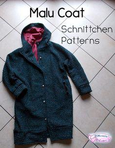 Finalmente son riuscita a cucire un cappotto! Cappotto Malu di Schnittchen patterns sul blog!