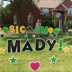 SIC 'EM MADY! Mady is Baylor Bound! Graduation Fun in the Yard! Graduation Yard Signs, Baylor University, Grad Parties, College, Party, Fun, University, Parties, Graduation Parties
