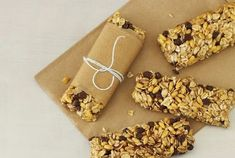Chewy Chocolate Chip Granola Bars - Joy of Kosher Apple And Pumpkin Picking, Chocolate Chip Granola Bars, California Raisins, Sweet Peanuts, Toasted Pumpkin Seeds, Oat Bars, Cereal Recipes, Peanut Butter Cups, Caramel Apples