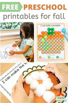 20+ Free Printables for Preschool Fall Theme - Stay At Home Educator