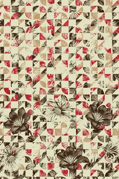 geometric + flower pattern by Elissa Rocabado