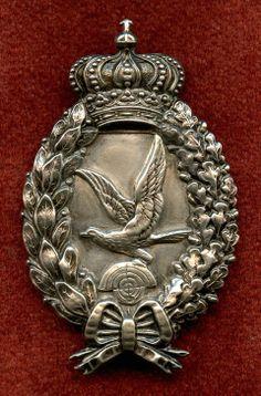 Exceedingly Rare WWI Bavarian Air Gunner Badge in 800 Silver by Poellath