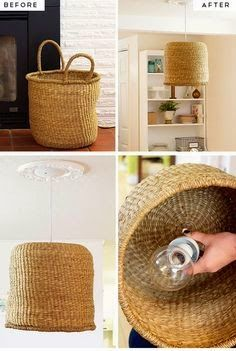 diy home decor projects cheapSimple Diy Kitchen Decoration Ideas 9 DIY Basket pendant Lamp Diy Home Creative Projects All Kinds Of Printi. Diy Kitchen Furniture, Diy Kitchen Decor, Diy Furniture, Kitchen Ideas, Furniture Cleaning, Diy Home Decor Rustic, Diy Home Decor On A Budget, Decorating On A Budget, Decorating Baskets