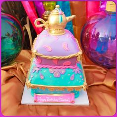 Amazing Arabian birthday party cake! See more party planning ideas at CatchMyParty.com!