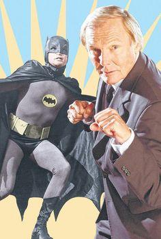 Adam West, Actor best known for his portrayal of the comic book superhero, Batman. d 10 June 2017 Batman 1966, I Am Batman, Batman Robin, Superman, Batman Age, Batman Tv Show, Batman Tv Series, Batgirl, Catwoman