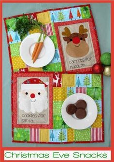 """""""Chrismas Eve Snacks"""" designed by Fiona Tully for Two Brown Birds."""