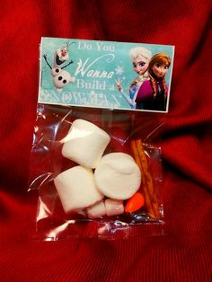 Frozen Olaf Valentine's Day Birthday Bag Topper - DIY Printable - Instant Download - Add Your Own Text!