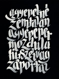 hand painted type: awesome
