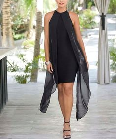 Loving this Black Sheer-Overlay Sheath Dress - Women & Plus on #zulily! #zulilyfinds Holiday Party Dresses, Photo Sessions, Sheath Dress, Overlays, High Point, Shoulder, Clothes, Black, Amp